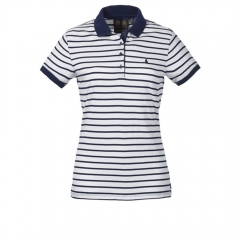 Womens Stripe Polo Shirt