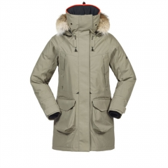 Womens Long Showerproof Winter Jacket