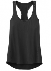 Womens Basic Black Active Top